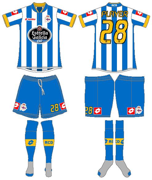 Deportivo La Coruna Uniform Home Uniform (2013-2014) -  SportsLogos.Net