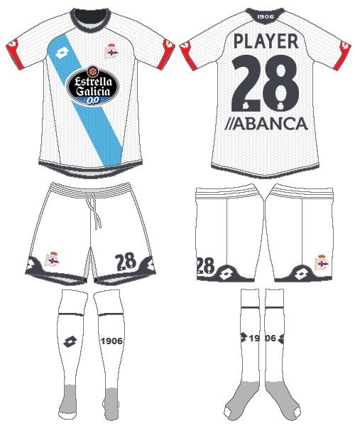 Deportivo La Coruna Uniform Road Uniform (2015-2016) -  SportsLogos.Net