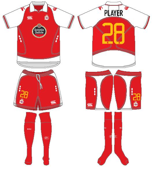 Deportivo La Coruna Uniform Road Uniform (2008-2009) -  SportsLogos.Net