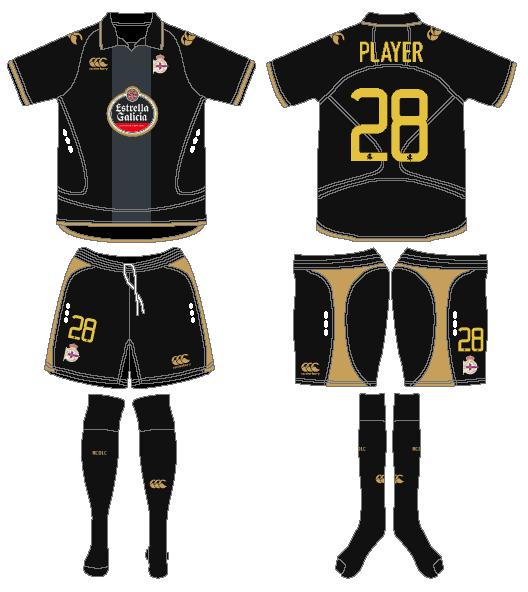 Deportivo La Coruna Uniform Alternate Uniform (2008-2009) -  SportsLogos.Net
