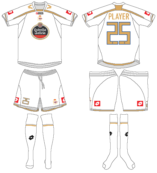 Deportivo La Coruna Uniform Alternate Uniform (2009-2010) -  SportsLogos.Net