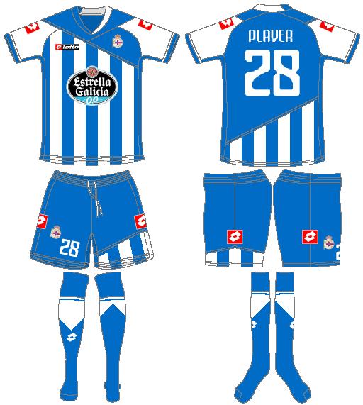 Deportivo La Coruna Uniform Home Uniform (2011-2012) -  SportsLogos.Net