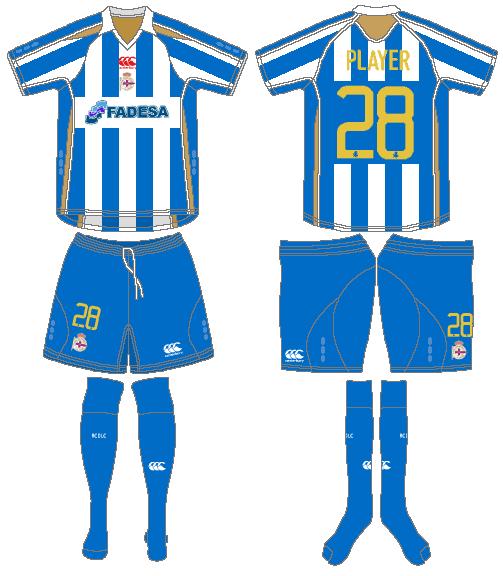 Deportivo La Coruna Uniform Home Uniform (2007-2008) -  SportsLogos.Net