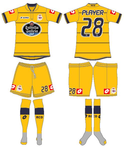 Deportivo La Coruna Uniform Alternate Uniform (2013-2014) -  SportsLogos.Net