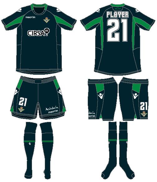Real Betis Uniform Alternate Uniform (2012-2013) -  SportsLogos.Net