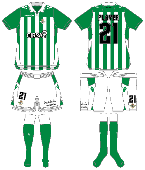 Real Betis Uniform Home Uniform (2012-2013) -  SportsLogos.Net
