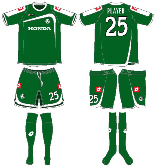 Maccabi Haifa Uniform Home Uniform (2009-2010) -  SportsLogos.Net