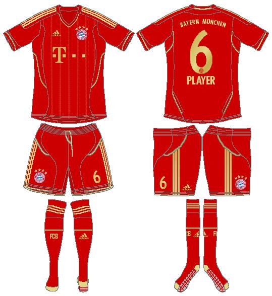 Bayern Munich Uniform Home Uniform (2011-2013) -  SportsLogos.Net