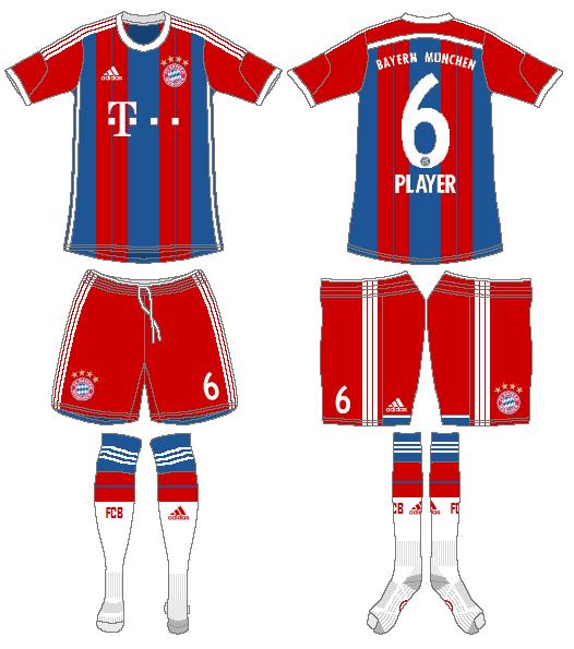 Bayern Munich Uniform Home Uniform (2014-2015) -  SportsLogos.Net