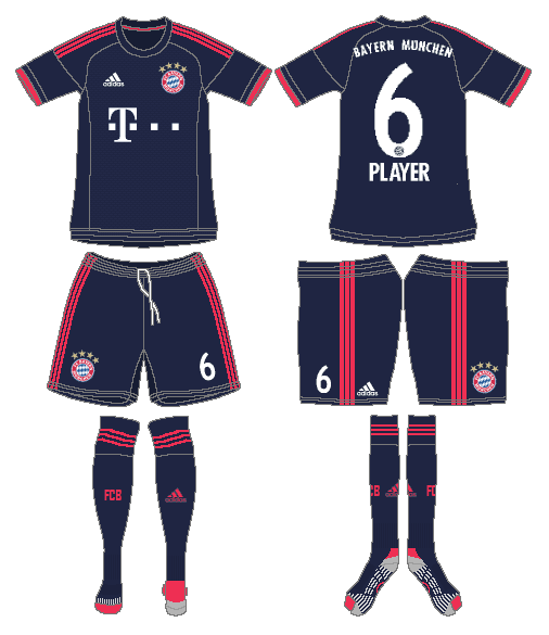 Bayern Munich Uniform Alternate Uniform (2015-2016) -  SportsLogos.Net
