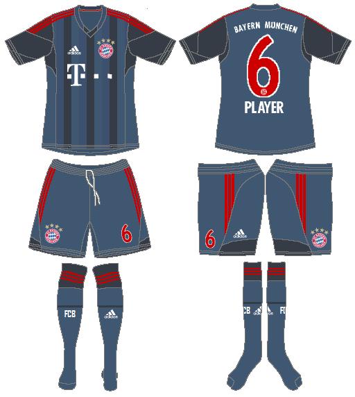 Bayern Munich Uniform Road Uniform (2013-2014) -  SportsLogos.Net