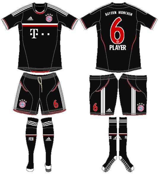 Bayern Munich Uniform Road Uniform (2011-2012) -  SportsLogos.Net