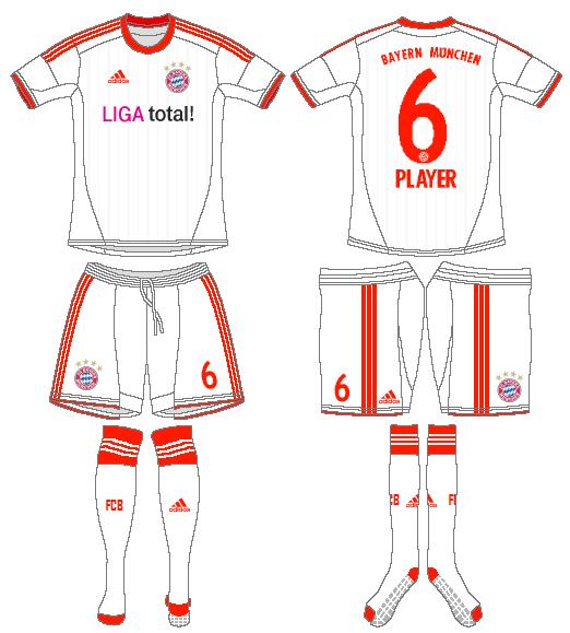 Bayern Munich Uniform Road Uniform (2012-2013) -  SportsLogos.Net