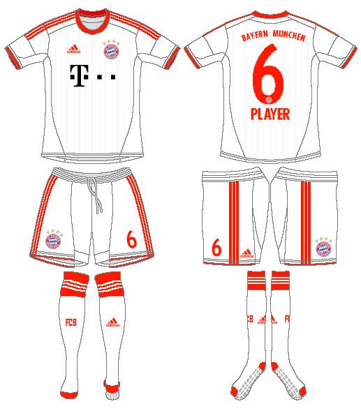 Bayern Munich Uniform Road Uniform (2012-2013) - 2012-13 UEFA Away SportsLogos.Net