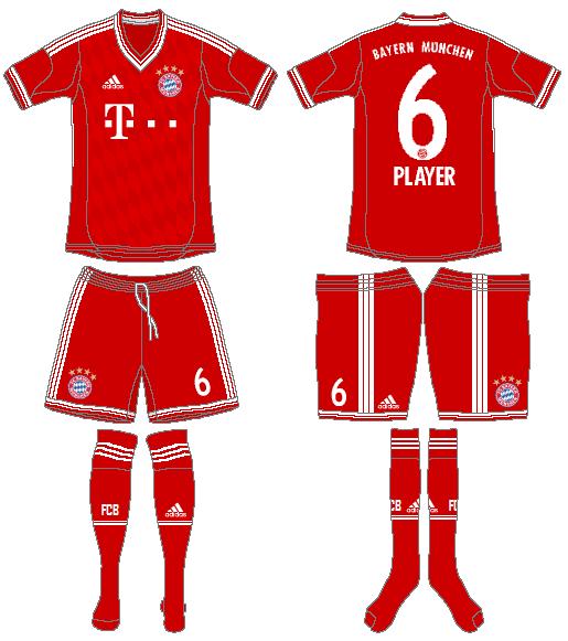 Bayern Munich Uniform Home Uniform (2013-2014) -  SportsLogos.Net