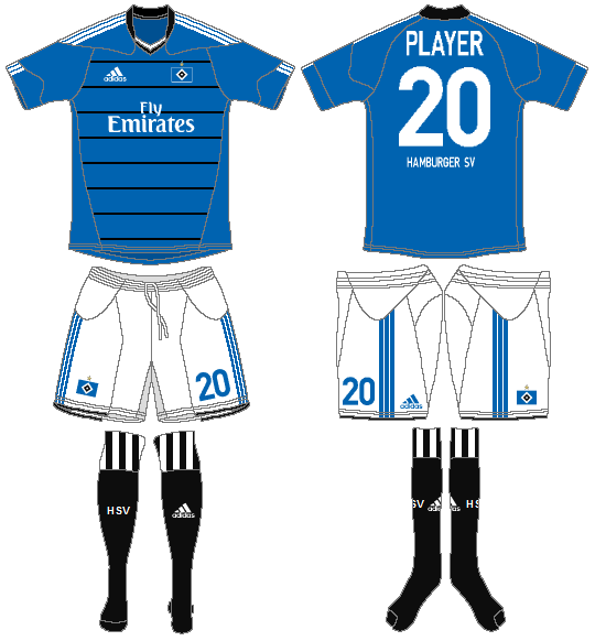 Hamburger SV Uniform Road Uniform (2010-2011) -  SportsLogos.Net
