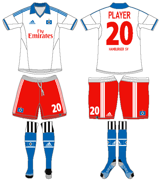 Hamburger SV Uniform Home Uniform (2013-2014) -  SportsLogos.Net