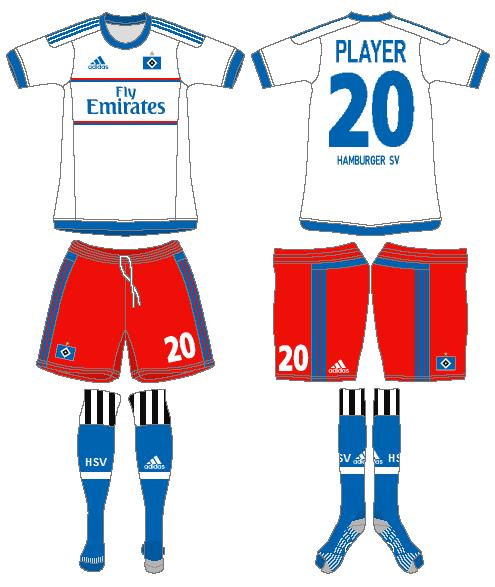 Hamburger SV Uniform Home Uniform (2015-2016) -  SportsLogos.Net