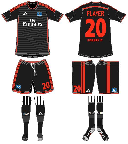Hamburger SV Uniform Road Uniform (2014-2015) -  SportsLogos.Net