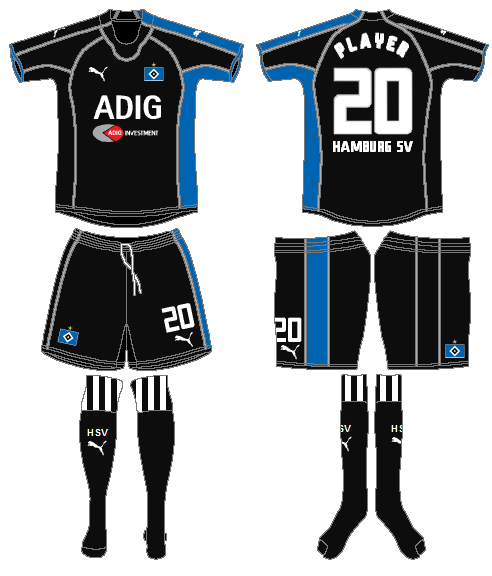 Hamburger SV Uniform Road Uniform (2005-2006) -  SportsLogos.Net