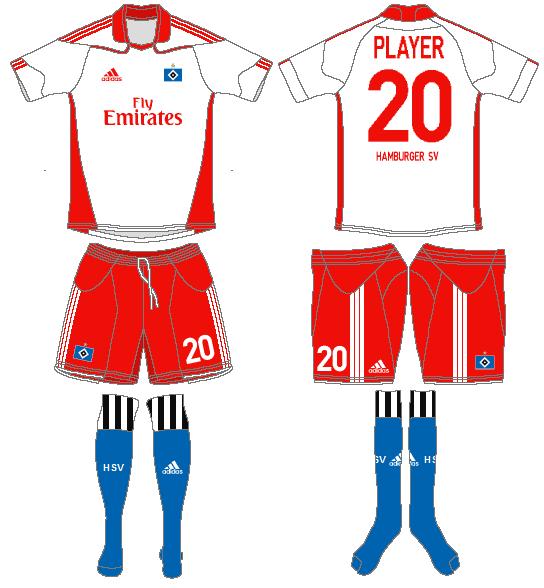 Hamburger SV Uniform Home Uniform (2010-2011) -  SportsLogos.Net