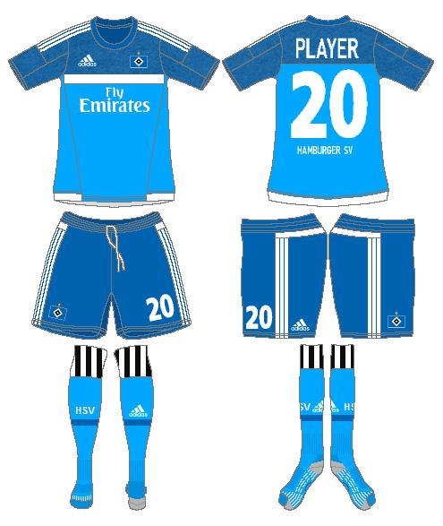 Hamburger SV Uniform Road Uniform (2015-2016) -  SportsLogos.Net