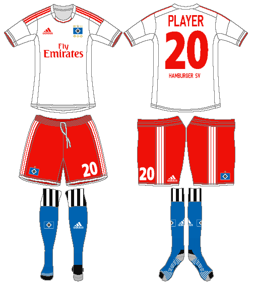 Hamburger SV Uniform Home Uniform (2012-2013) -  SportsLogos.Net