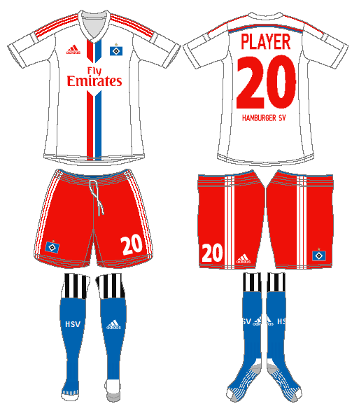 Hamburger SV Uniform Home Uniform (2014-2015) -  SportsLogos.Net