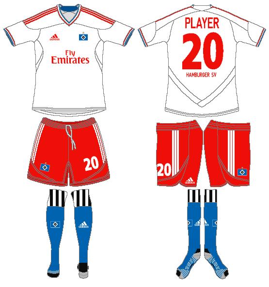 Hamburger SV Uniform Home Uniform (2011-2012) -  SportsLogos.Net