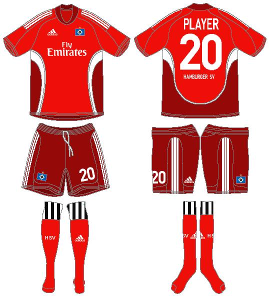 Hamburger SV Uniform Alternate Uniform (2008-2010) -  SportsLogos.Net