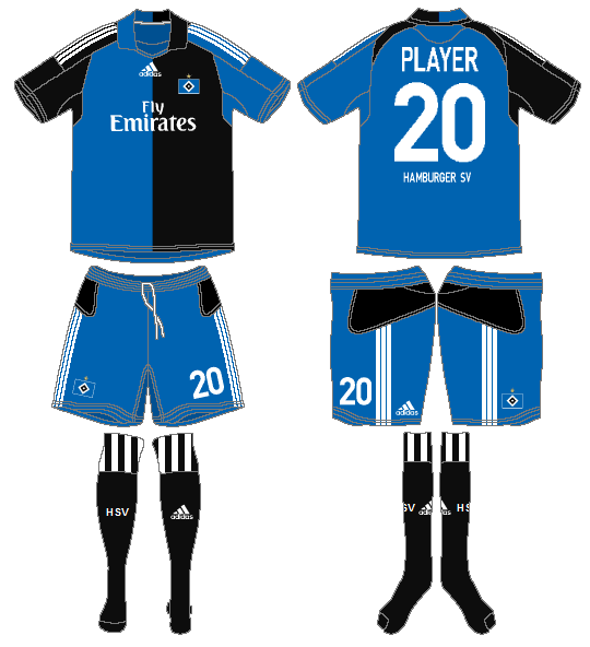 Hamburger SV Uniform Road Uniform (2008-2010) -  SportsLogos.Net