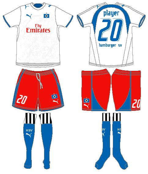 Hamburger SV Uniform Home Uniform (2006-2007) -  SportsLogos.Net