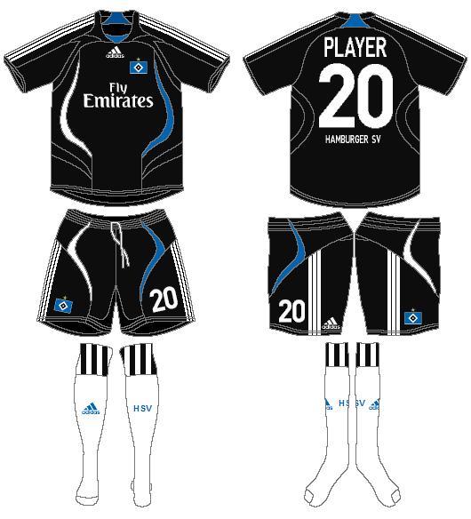 Hamburger SV Uniform Road Uniform (2007-2008) -  SportsLogos.Net