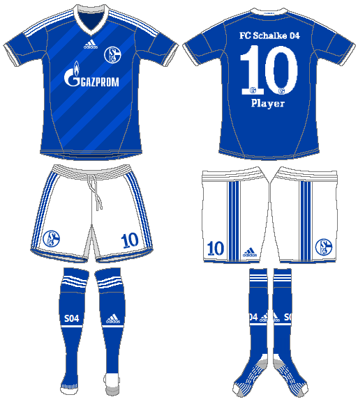 Schalke 04 Uniform Home Uniform (2012-2014) -  SportsLogos.Net