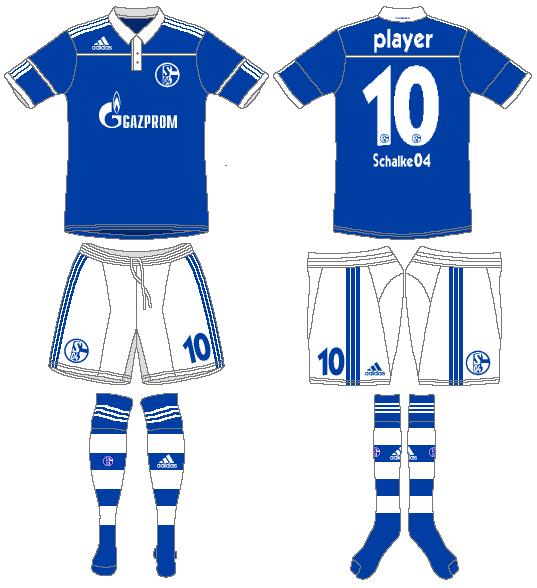 Schalke 04 Uniform Home Uniform (2010-2012) -  SportsLogos.Net