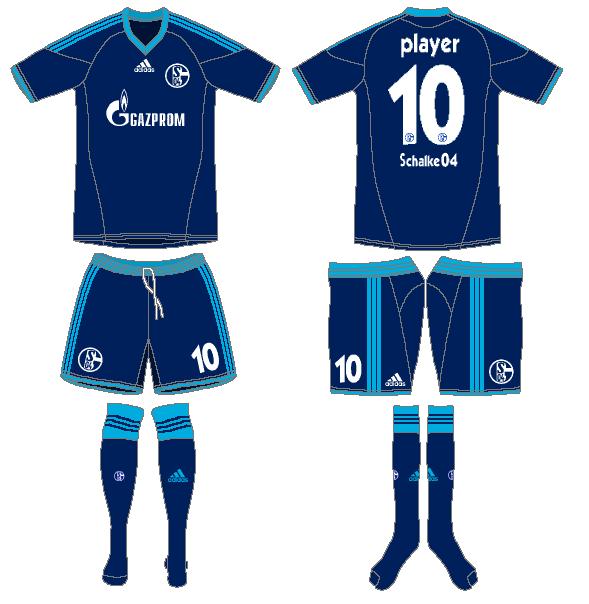 Schalke 04 Uniform Road Uniform (2010-2011) -  SportsLogos.Net