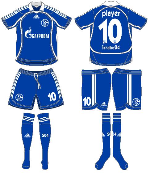 Schalke 04 Uniform Home Uniform (2007-2008) -  SportsLogos.Net