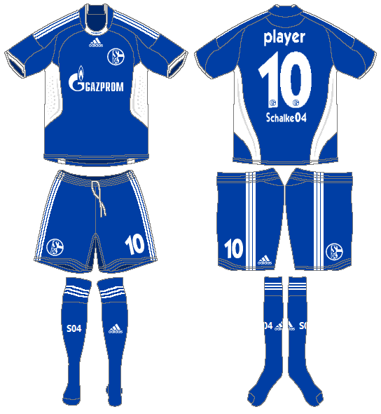 Schalke 04 Uniform Home Uniform (2008-2010) -  SportsLogos.Net