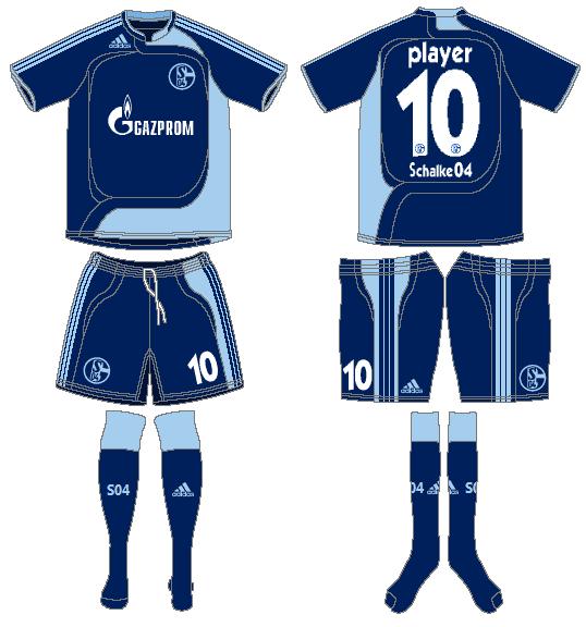 Schalke 04 Uniform Road Uniform (2007-2009) -  SportsLogos.Net