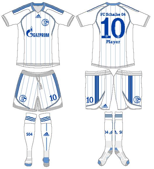 Schalke 04 Uniform Road Uniform (2012-2013) -  SportsLogos.Net