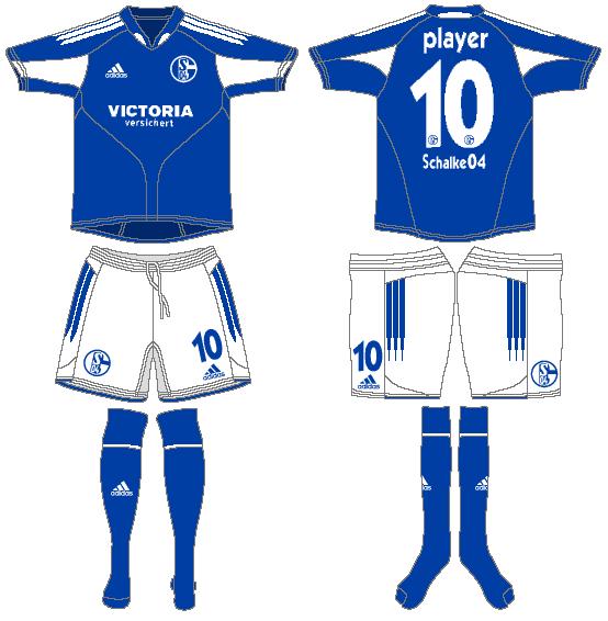 Schalke 04 Uniform Home Uniform (2004-2006) -  SportsLogos.Net
