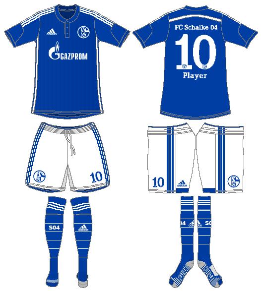 Schalke 04 Uniform Home Uniform (2014-2016) -  SportsLogos.Net
