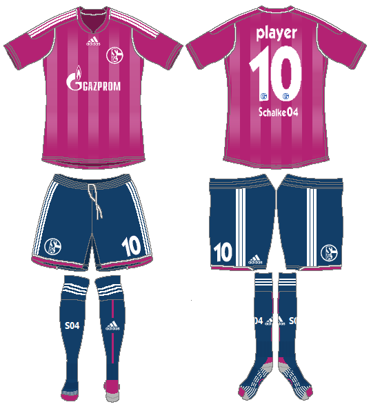 Schalke 04 Uniform Alternate Uniform (2011-2012) -  SportsLogos.Net