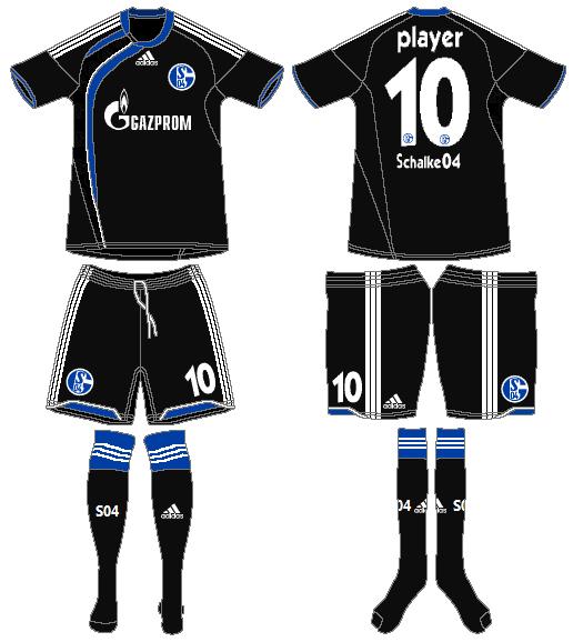 Schalke 04 Uniform Road Uniform (2009-2010) -  SportsLogos.Net