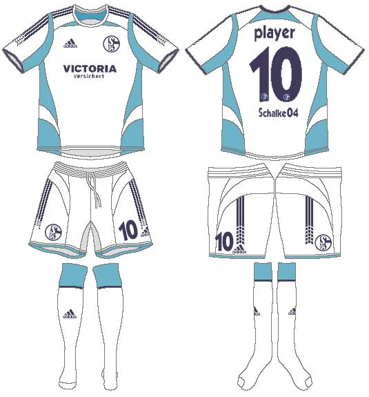 Schalke 04 Uniform Road Uniform (2005-2007) -  SportsLogos.Net