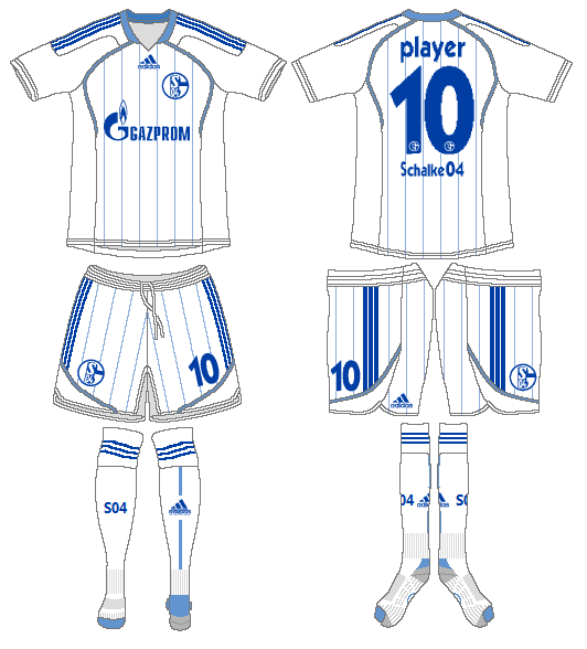 Schalke 04 Uniform Road Uniform (2011-2012) -  SportsLogos.Net