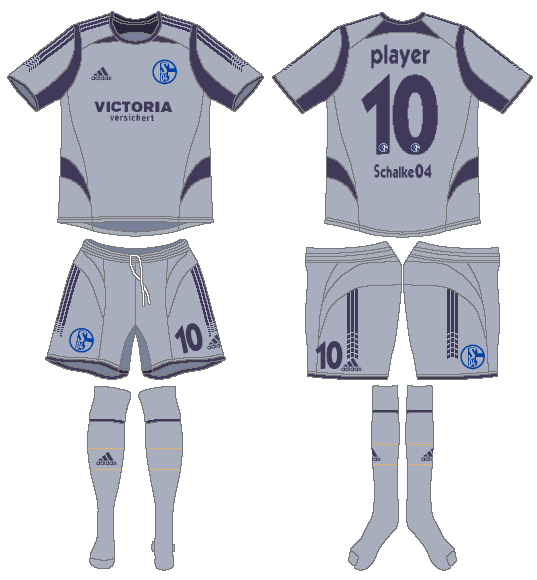 Schalke 04 Uniform Alternate Uniform (2005-2006) -  SportsLogos.Net