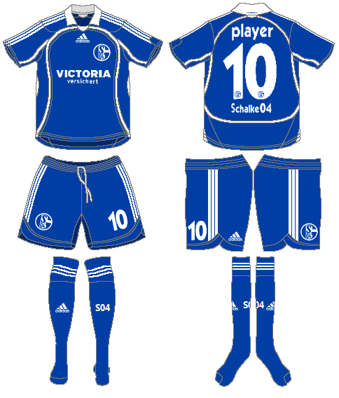 Schalke 04 Uniform Home Uniform (2006-2007) -  SportsLogos.Net