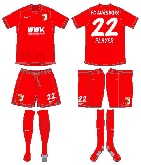 FC Augsburg Uniform Alternate Uniform (2015-2016) -  SportsLogos.Net