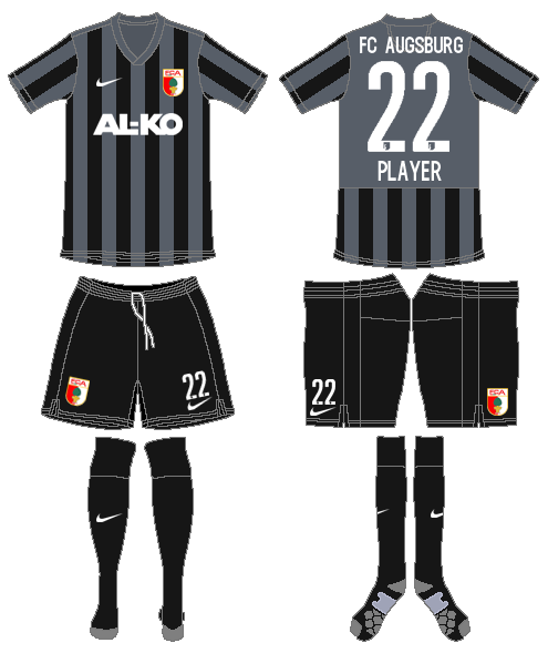 FC Augsburg Uniform Road Uniform (2014-2015) -  SportsLogos.Net
